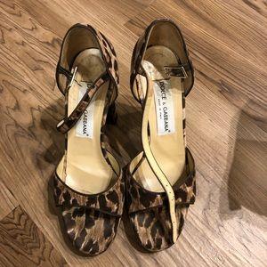 Dolce and Gabbana Vintage Velvet Leopard Sandal